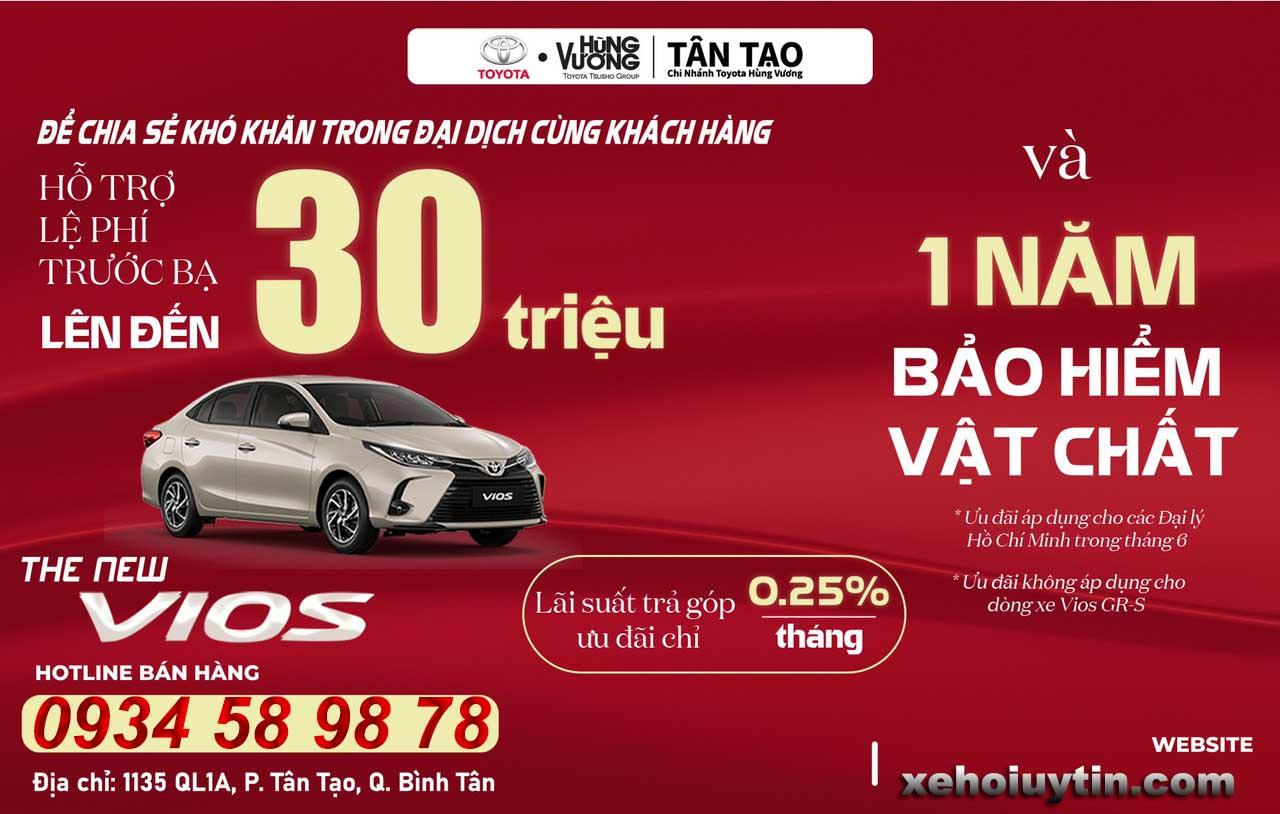 Giá lăn bánh VIOS 2021 thời điểm tốt để mua xe trong năm khuyến mãi hấp dẫn, Đặc biệt trong tháng 06/2021 có gì
