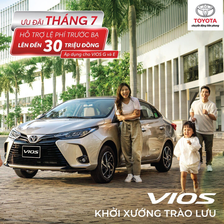 Toyota Hùng Vương triển khai chương trình ưu đãi lên đến 30 triệu đồng cho Vios tháng 7